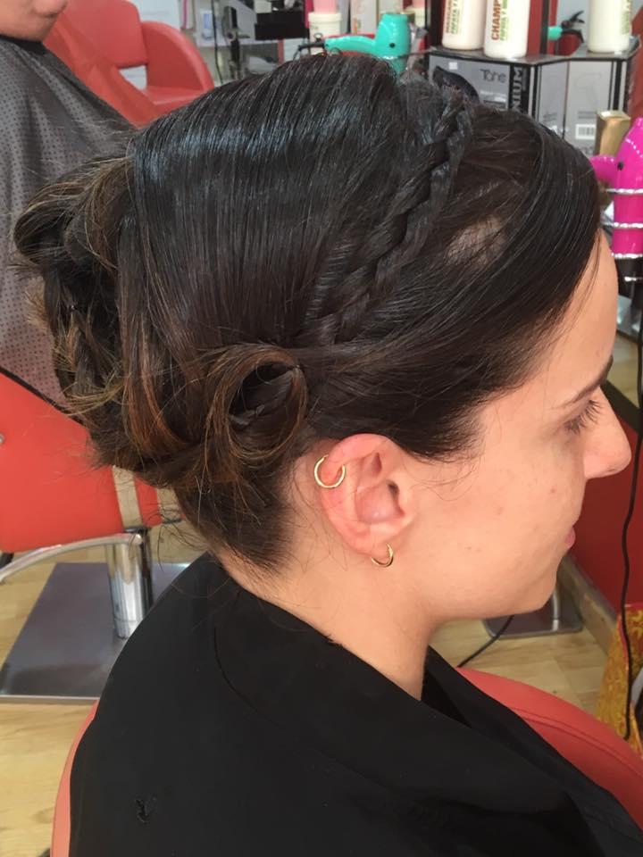Peinados pelo recogido con trenza
